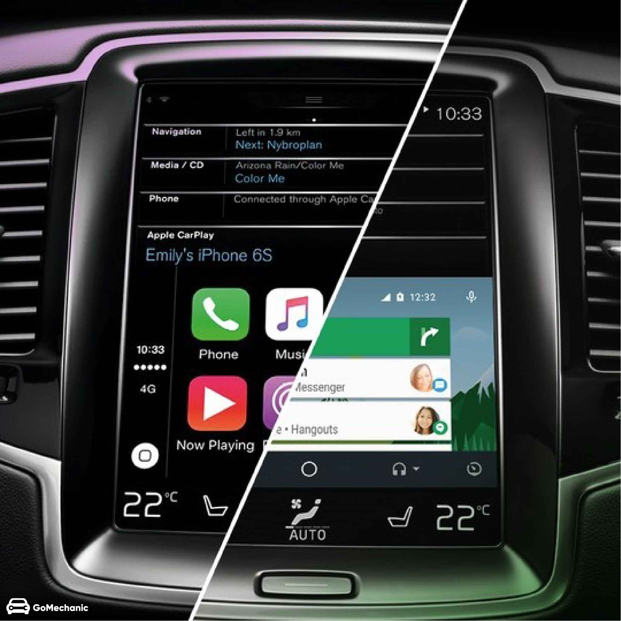Android Auto Vs Apple CarPlay | GoMechanic