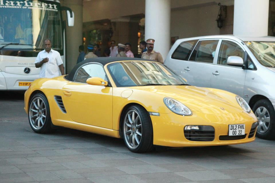 Suresh Raina with his Porsche
