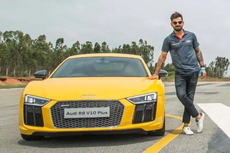 Virat Kohli With Audi R8