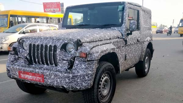 2020 Mahindra Thar Production-Ready mule SPIED testing again!