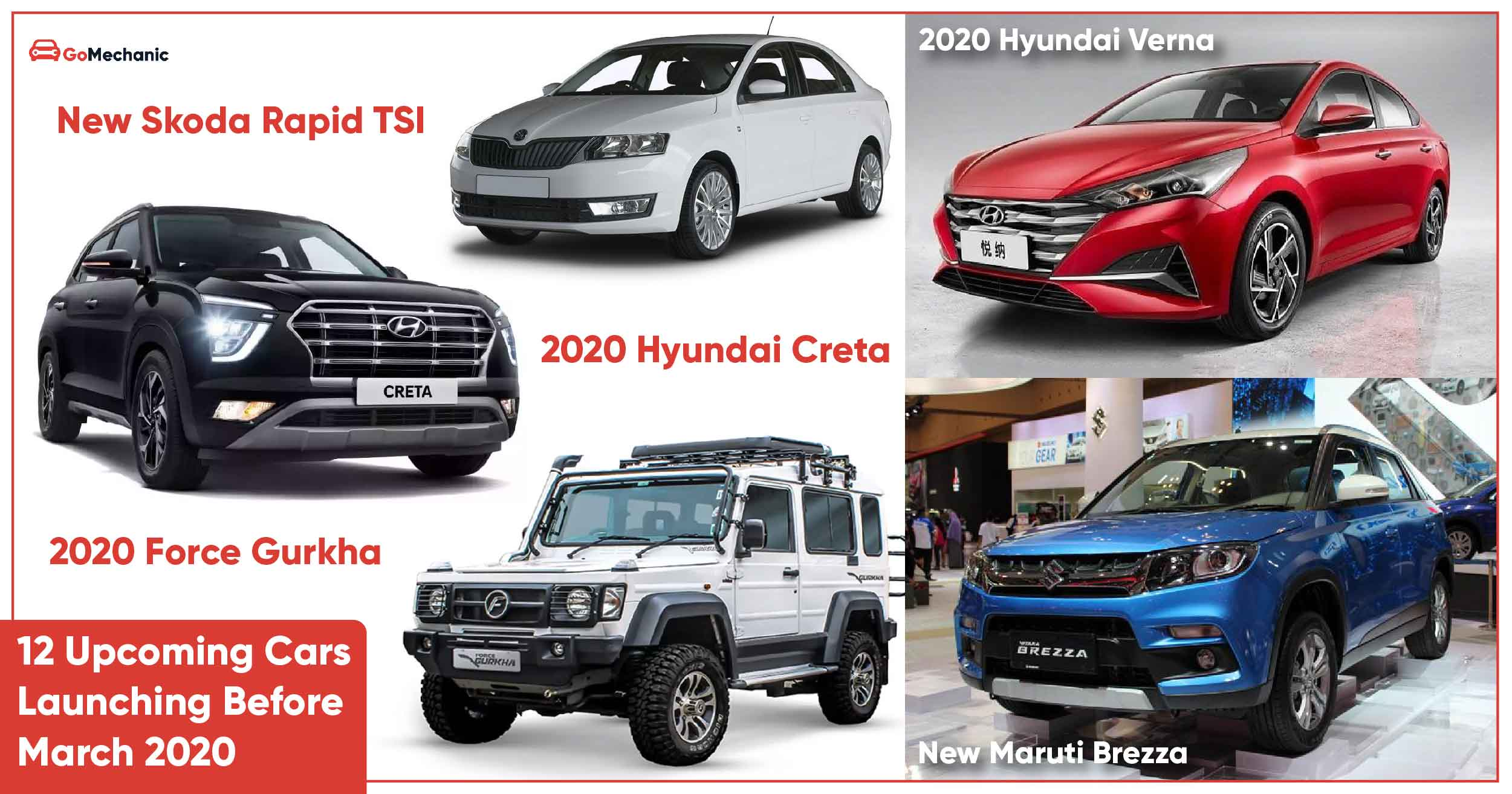 12 Upcoming Cars In India Launching Before March 2020