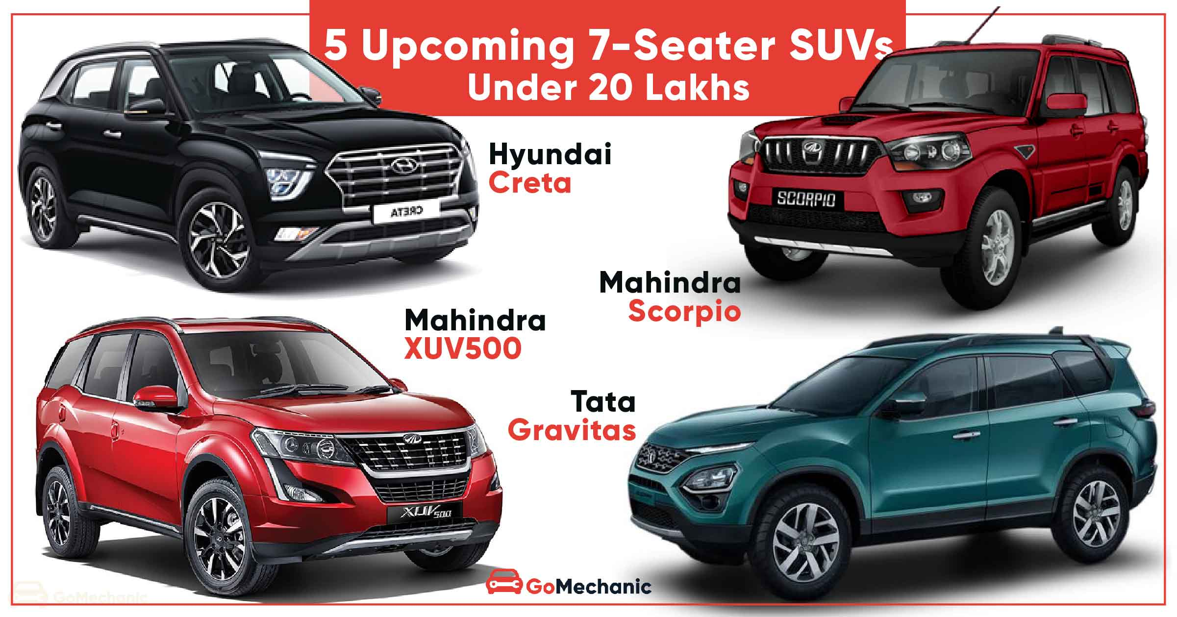 5 Upcoming 7 Seater Suvs Under Rs 20 Lakhs Mg Hector Plus To Xuv500